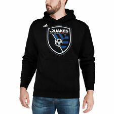 adidas San Jose Earthquakes Black Logo Set Pullover Hoodie
