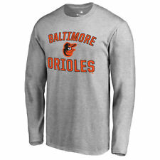 Baltimore Orioles Ash Victory Arch Long Sleeve T-Shirt - MLB