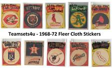 1968-72 Fleer Cloth Stickers Baseball Sets ** Pick Your Team **