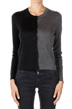 FENDI New Woman Grey Black Cardigan Sweater Cashmere Silk Made in Italy