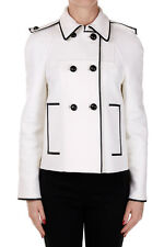 VALENTINO Woman White Mixed Virgin Wool Double-breasted Coat