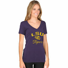 New Agenda LSU Tigers Women's Purple Fanciful V-Neck T-Shirt - College