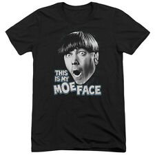 Three Stooges Moe Face Mens Tri-Blend Short Sleeve Shirt BLACK