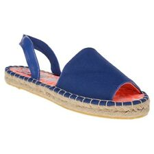 New Womens Superdry Blue Maria Espadrille Canvas Sandals Espadrilles Slip On
