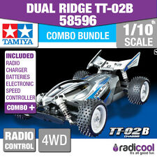 COMBO DEAL! 58596 TAMIYA DUAL RIDGE 4WD TT-02B 1/10th Buggy Radio Control Kit
