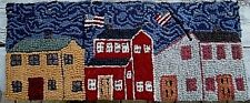 MAIN STREET AMERICANA  Primitive Rug Hooking KIT WITH #8 CUT WOOL STRIPS