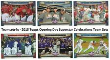 2015 Topps Opening Day Superstar Celebrations Baseball Set ** Pick Your Team **