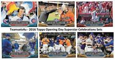 2016 Topps Opening Day Superstar Celebrations Baseball Set ** Pick Your Team **