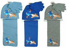 Boys Disney Planes Dusty Beanie Hat Scarf & Gloves Set 3-12 Years CLEARANCE SALE