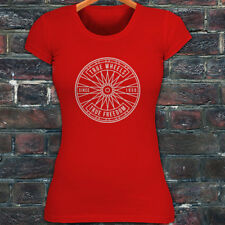 BICYCLE TRUE WHEELS BIKE CYCLING ROAD MOUNTAIN Womens Red T-Shirt