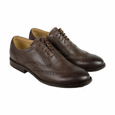 Sebago Dresden Wing Tip Mens Brown Leather Casual Dress Lace Up Oxfords Shoes