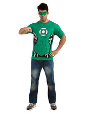 Adult's Mens DC Green Lantern T-Shirt Ring And Mask Costume Set