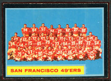 1962 Topps Football #163 49ers Team EX+ 82012