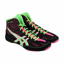 Asics Caelv 6.0 Mens Black Mesh Athletic Lace Up Wrestling Shoes