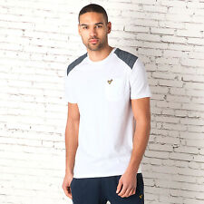 Mens Voi Jeans Grant T-Shirt In White-Ribbed Collar-Crew Neck-Contrasting