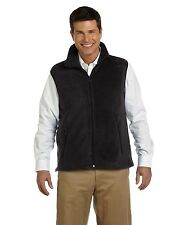 NEW Harriton Men's Vest 8 oz Fleece Jacket M985 Black Large & More Size/Colors