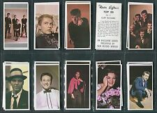 """MISTER SOFTEE 1963 """"TOP 20"""" ELVIS SINATRA POP STAR TRADE CARDS - PICK YOUR CARD"""