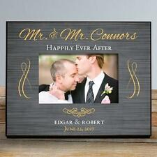 Personalized Mr & Mr Wedding Picture Frame Same Sex Couple Wedding Gift Frame