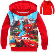 Kids Boys Spider man Cotton Hoodie Coat Long Sleeve Sweatshirts Pullover Outwear