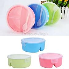 Bento Picnic Kitchen Tableware Food Container Microwave Lunch Box w/Spoon Multi