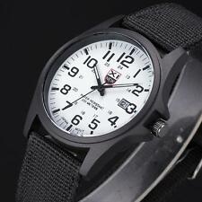 Fashion Mens Date Military Stainless Steel Analog Quartz Army Sports Wrist Watch