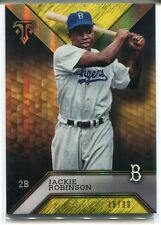 2016 TOPPS TRIPLE THREADS #78 JACKIE ROBINSON GOLD 16/99
