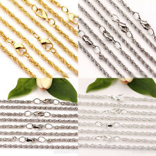 2/10Pcs Lobster Clasps Twisted Ring Metal Chains Necklace Findings 3mm Hot Gift