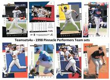 1998 Pinnacle Performers Baseball Set ** Pick Your Team **