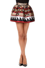 DSQUARED2 New Women Multicolor mini skirt Silk Blend Made in Italy NWT