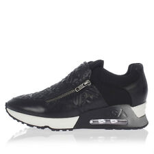 ASH new woman LENNOX black Leather sneakers with Lateral Zip Cover Air Tube Sole