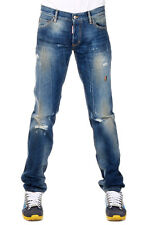 DSQUARED2 Dsquared² New Men Jeans Denim SLIM JEAN Destroyed  Made  Italy