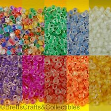 #10/0 - Spheroid Frosted Glass Seed Beads (40 grams / 1.40oz per Bag)