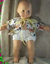 "Doll Clothes fit American Girl 16"" inch Bitty Baby Short Set Cats Yellow"