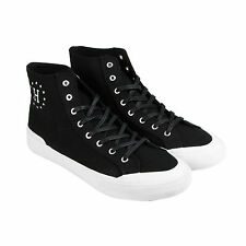 HUF Classic Hi Mens Black Canvas High Top Lace Up Sneakers Shoes