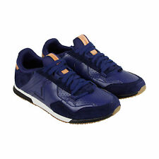 Diesel S-Furyy Mens Blue Leather Lace Up Trainers Shoes