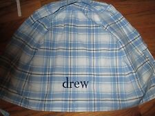 Pottery Barn Kids Blue Plaid Easter Basket Liner Various Names