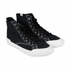 HUF Classic Hi Mens Black Textile High Top Lace Up Sneakers Shoes