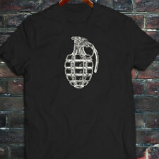 VINTAGE GRENADE ARMY MILITARY SPECIAL FORCES BOMB Mens Black T-Shirt