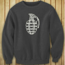 VINTAGE GRENADE ARMY MILITARY SPECIAL FORCES BOMB Womens Charcoal Sweatshirt