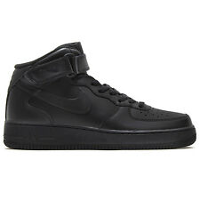 NIKE AIR FORCE 1 ONE MID 07 Men's High Shoes Black Sneaker NEW DUNK
