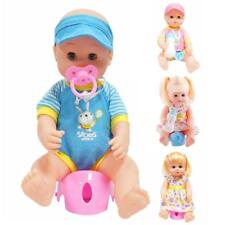 Training Drink & Potty Lifelike Vinyl Baby Boy/Girl Doll Kids Pretend Toy Gift