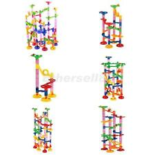 Marble Run Race Set Building Blocks Construction Toy Game Marble Running Maze