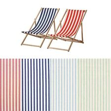 VINTAGE COTTON TICKING STRIPE DECK CHAIR 100% COTTON FURNITURE UPHOLSTERY FABRIC