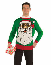 Adults Mens Santa Claus Face Funny Ugly Christmas Sweater Party Sweatshirt
