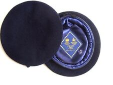 REME NAVY BLUE BERET OFFICER QUALITY ALL RANKS  SMALL CROWN / HOOD BERET