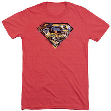 Superman American Way Mens Tri-Blend Short Sleeve Shirt RED