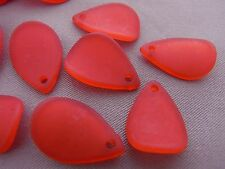 17mm 50/100/../400pcs DARK RED ACRYLIC LUCITE PLASTIC PETAL BEADS CHARMS TZ1177