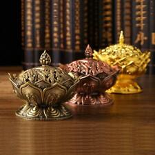 Lotus Incense Smoke Cone Aroma Burner Holder Stove Backflow Censer 3 Colors