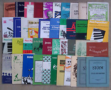 "SHEET MUSIC & BOOKLETS FOR THE PIANO - BEGINNERS.          ""F"""