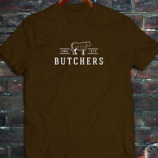 BUTCHERS COW BEEF CARNIVORE MEAT SLAUGHTER FOOD Mens Brown T-Shirt